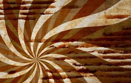abstract brown background with a twirl element Stock Photo