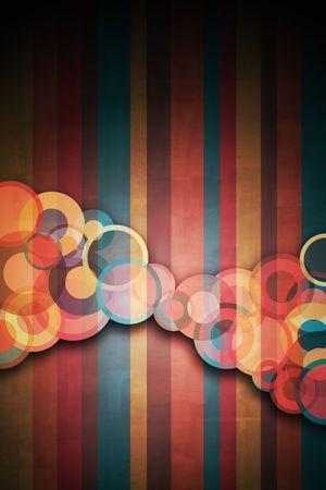 beautiful shapes in a retro looking background