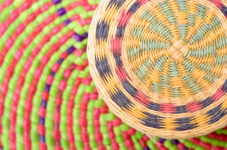 beautiful basket texture for use as background Stock Photo
