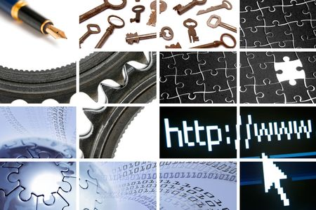 technology and communications composition out of many images Stock Photo