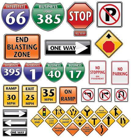 collection of road signs volume one Stock Photo - 3982585