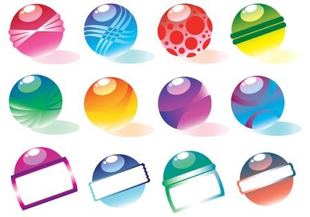 colorful balls design elements photo