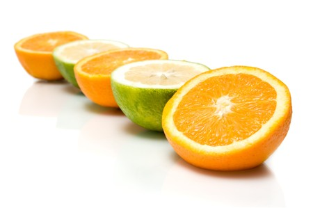 beautiful citrus fruit isolated over a white background
