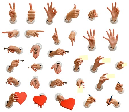 isolated hand images collection for use in many designs