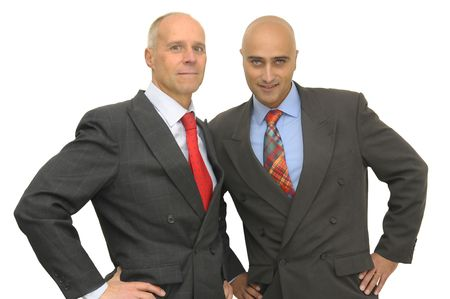 Two businessman isolated against a white background Stock Photo - 4211731
