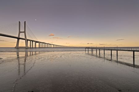 Vasco da Gama bridge in Lisbon Portugal Stock Photo - 4390499
