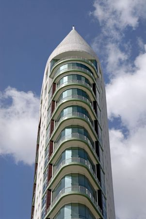 hight tech: Big modern building in Lisbon nations park