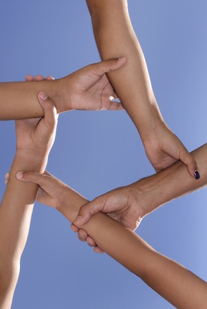 Hands forming a pentagram Stock Photo - 4468662