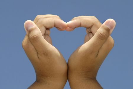 unbreakable: Hands forming a heart