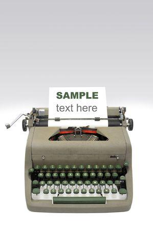Very old typewriter isolated  photo