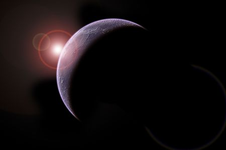 planet isolated in black photo