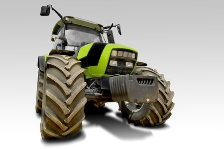 Green tractor isolated in white Stock Photo - 5259905