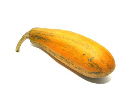 Yellow courgette isolated in white photo