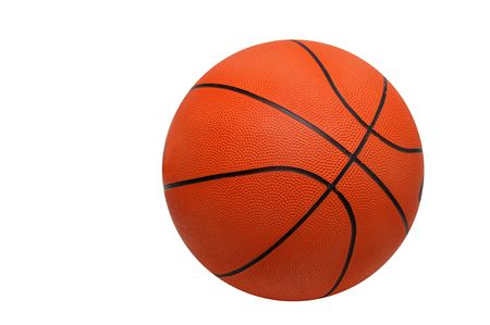 Basket ball isolated in white photo