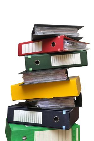Stack of files isolated in white Stock Photo - 6016934