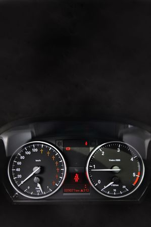 Car dashboard with red crosses in the speedometer Stock Photo - 6330482