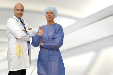 Doctor and patient posing in medical facilities Stock Photo - 6617765