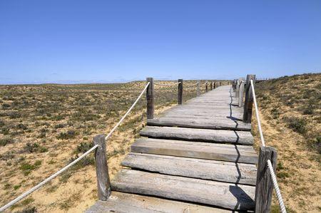 Algarves lagoa dos Salgados beach entrance photo