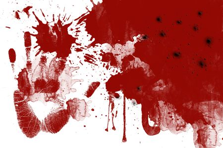 Illustration of blood spatters with white background