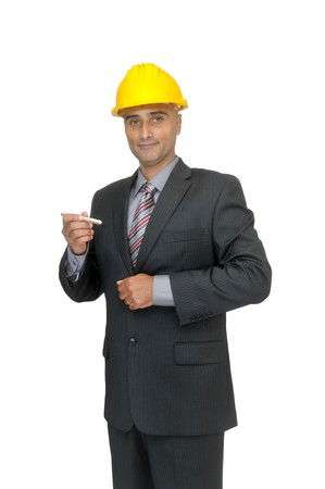 Engineer isolated in white Stock Photo - 7690540