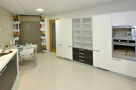 Modern apartment big kitchen with beautiful decoration Stock Photo - 8103591