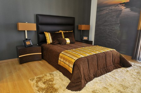 Bedroom decoration in a modern apartment Stock Photo - 8172706