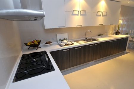 Modern apartment big kitchen with beautiful decoration Stock Photo - 8314344