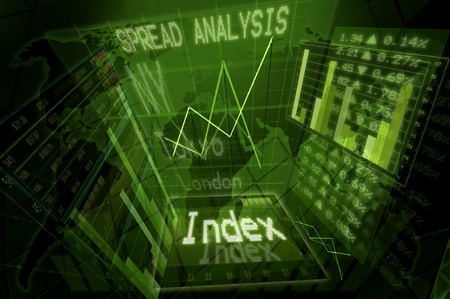pannel: Illustration of a stock exchange background
