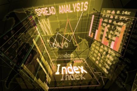 analisys: Illustration of a stock exchange background