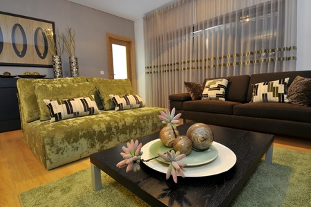 apartment living: Modern apartment living room decoration