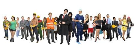 many people:  Multitud o grupo de personas aisladas en blanco