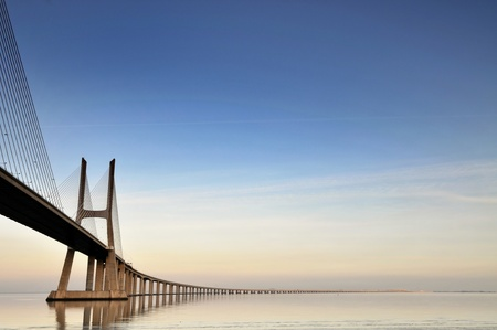 bridges: Vasco da Gama bridge in Lisbon, Portugal