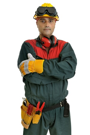 Construction worker isolated in white Stock Photo - 10107738