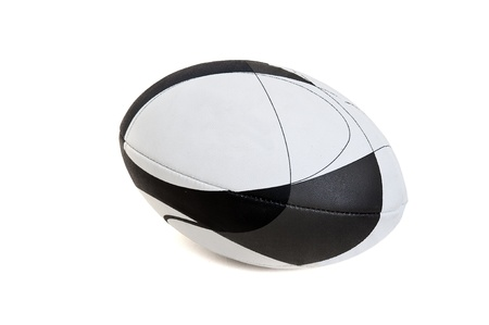 Rugby ball isolated in white photo