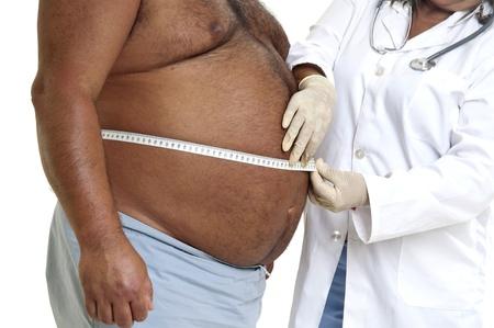 뚱뚱한: 의사 스톡 사진