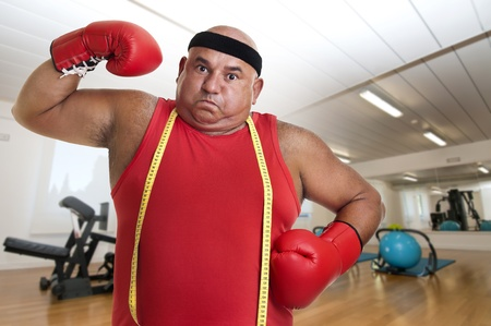 Large man with boxing gloves  Stock Photo - 10802092