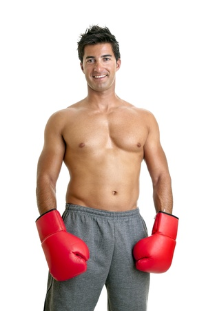 Muscular boxer isolated in white Stock Photo - 11534441