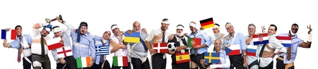 Complete team of injured businessmen after Euro cup 2012 photo