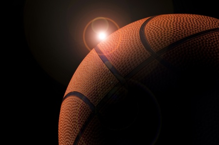 Basketball planet in a dark background photo