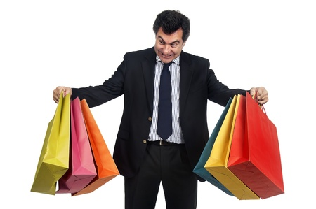 Man posing with shopping bags Stock Photo - 12962327