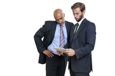 Businessmen with a tablet or pad Stock Photo - 12962365