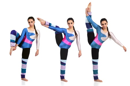Dancer in different poses against a white background Stock Photo - 14095042