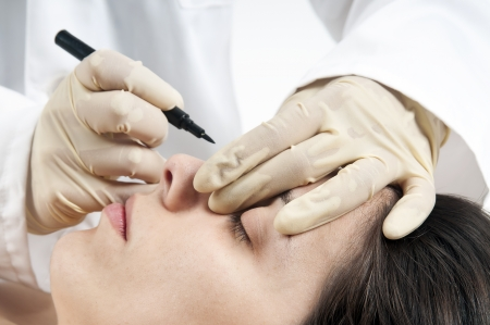 cosmetic surgery: Woman preparing for cosmetic surgery