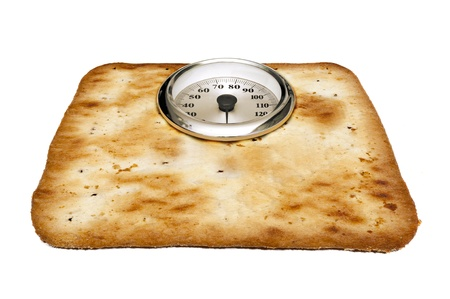 Weight scale made of cokies photo