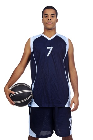 Basketball player isolated in white Stock Photo - 14590841