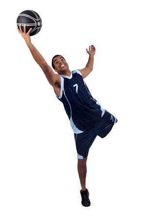 a basketball player: Basketball player isolated in white