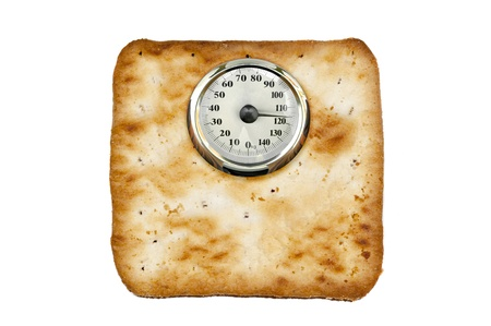 Weight scale made of cookies photo