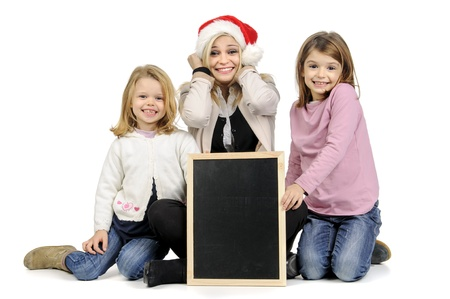 Mother with santa Stock Photo - 16962368