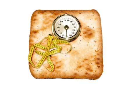 Weight scale made of cookies Stock Photo - 17123082