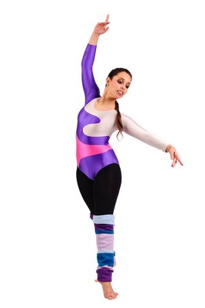 Dancer posing against a white background Stock Photo - 18153288